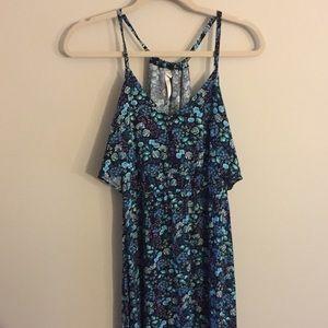 LC Lauren Conrad Blue Floral Maxi Dress